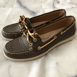 Sperry top sider leather boat shoes loafer